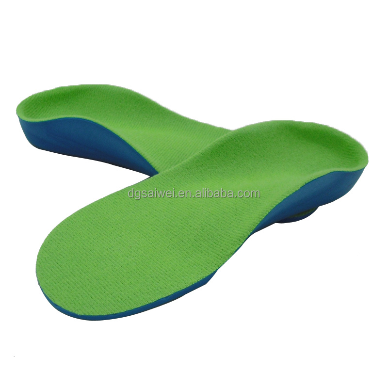 Orthotic PU insole with many size kids orthotic insole with arch support orthotics for flat feet