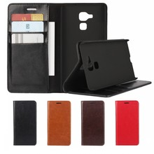 Luxury Retro Crazy Horse Genuine Leather Case Cover for Huawei Honor 5C 7 Lite GT3 Wallet with Card Holder Kickstand Coque Funda