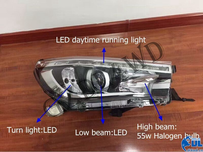 For Toyota Hilux Headlights 2016 New Revo LED Headlight