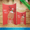 Christmas santa design printed pillow shape baby shower gift boxes