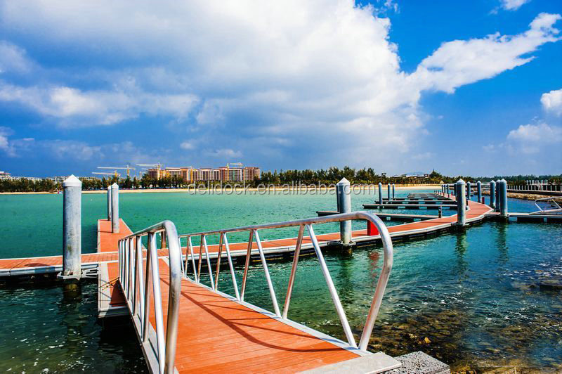 FLOATING BOAT durable floating swimming pool with wood decking