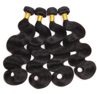 Alibaba express wholesale top quality unprocessed natural black body wave 12 14 16 18 virgin indian hair