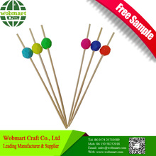 Factory Price Party Decorative Bamboo Picks Wholesale With Ball