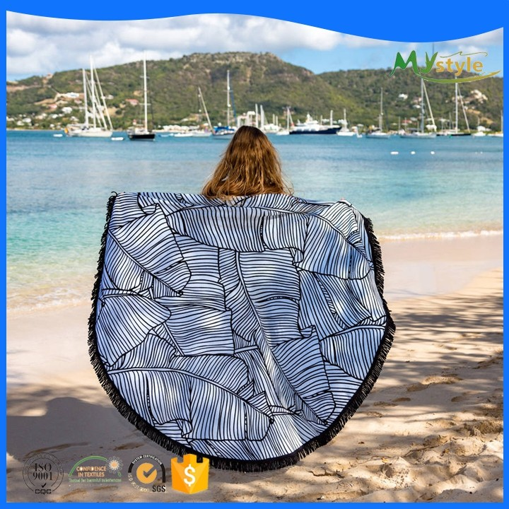 Wholesale Cheap Printed Round Beach Towels Mandala 100% Cotton