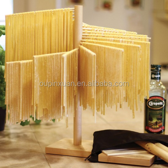 2016 Bamboo Table Top Pasta Spagetti Drying Rack new design kitchen food dry rack