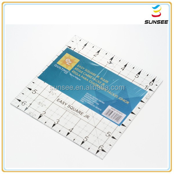 1-4mm thickness 100% new material factory best price flat surface acrylic ruler with a hole