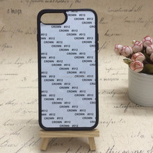 colorful Metal plate with custom's design of TPU 2D case for Iphone7