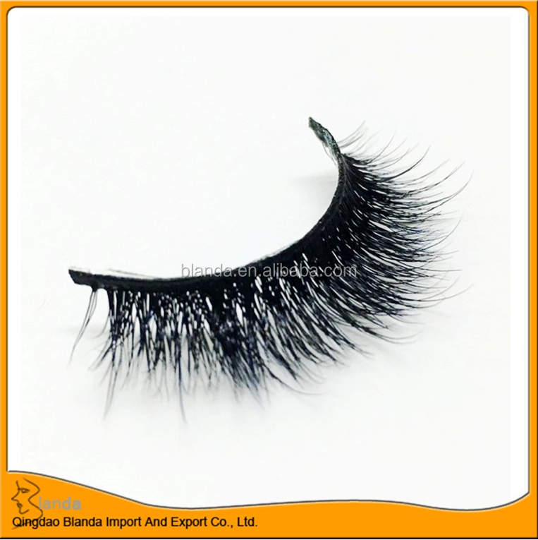 top quality 100% real mink hair strip eyelashes