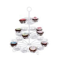 China Supplier Wholesale New Wedding Party Unique Customized Decorative Creative Counter Metal Wire Cake Stand