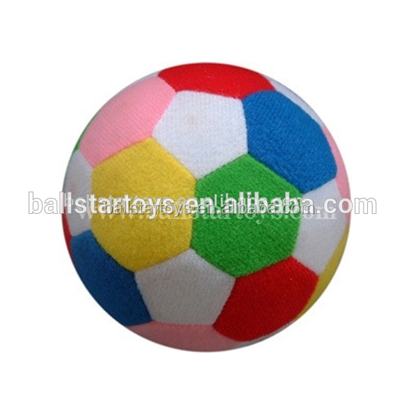 Wholesale stuffed plush colorfull soccer ball toy ,soft ball plush toy for baby game