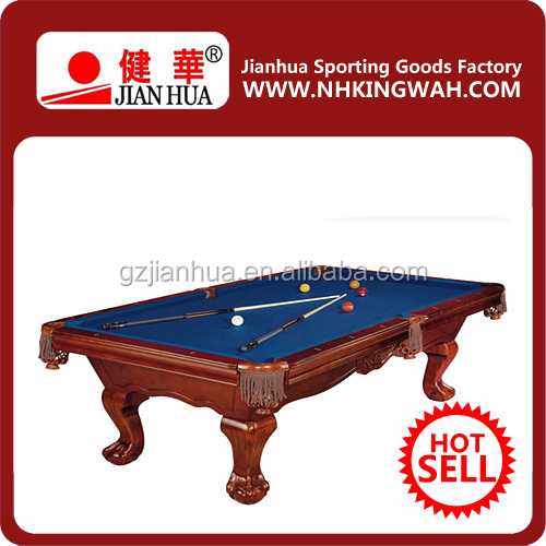 2016 best selling cheap price luxuri wood hand carve pool table