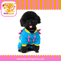 Dinosaur halloween winner pet clothes overall outerwear with CVC for Christmas dog