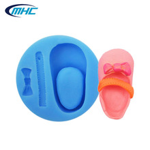 Hot trend baby girl shoes shaping silicone fondant mold, lovely cake decoration molds