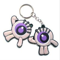 3D Soft Rubber Key Ring