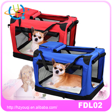Large Travel Collapsible Pet Carrier Small Dog Cat Rabbit Portable Pet Kennel