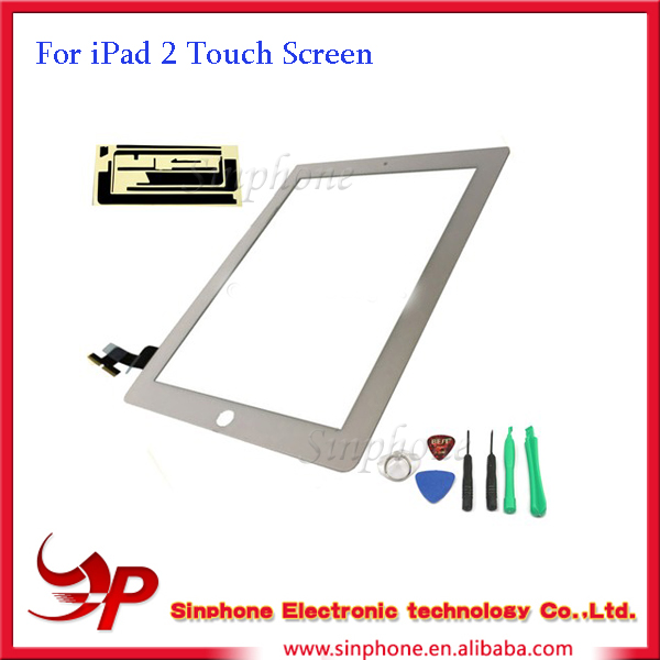white OEM Touch Screen Digitizer with tools Repair part For iPad 2