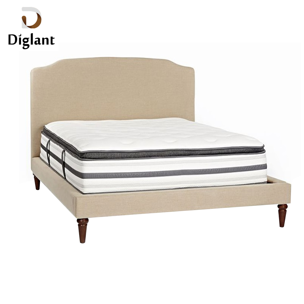 DM040 Diglant Gel Memory Latest Double Fabric Foldable King Size Bed Pocket bedroom furniture king size pillow top mattress - Jozy Mattress | Jozy.net