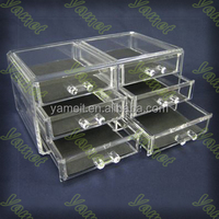 Pretty girl acrylic make up display box