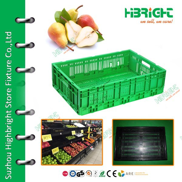 collapsing vegetable plastic folding crate