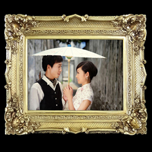 Golden Wood Wall Photo Frame for Lover Wedding photo frame