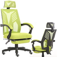 Black Frame best gaming computer Swivel all mesh office chair with leg rest
