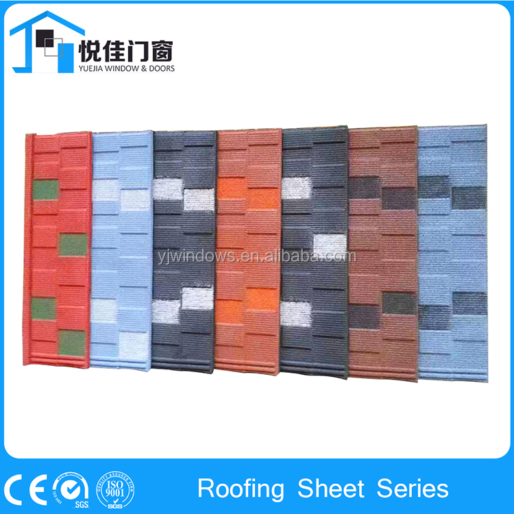 Modern stone coated steel roofing tile