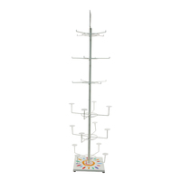 China cheap wire hat rack spinning display rotating gold supplier