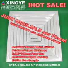 aluminum air square diffuser aluminum air square diffuser with damper aluminum square ceiling diffuser