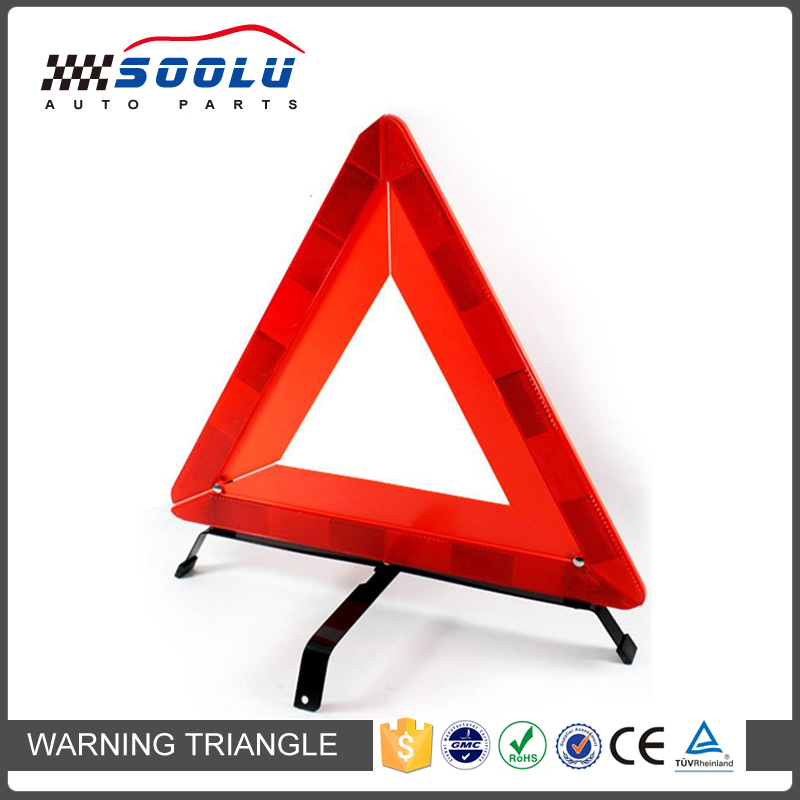 Collapsible Emergency Roadside Reflective Car Warning Triangle with Stand