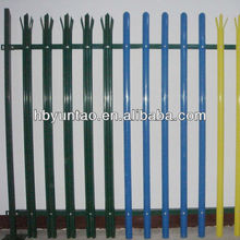 Cold rolled palisade fencing with galvanized for sale