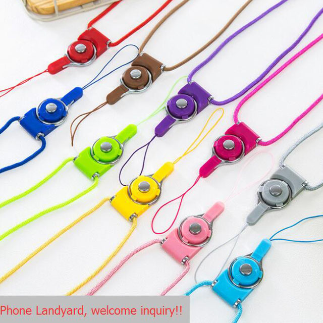 Custom Logo Detachable Lanyard Phone Case Fashion Rotate Ring Mobile Phone Lanyard