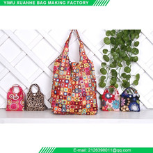 Factory supply reusable eco oxford cloth folding grocery shopping bag