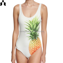 2017 Pineapples digital print sexy pretty one piece swimsuit