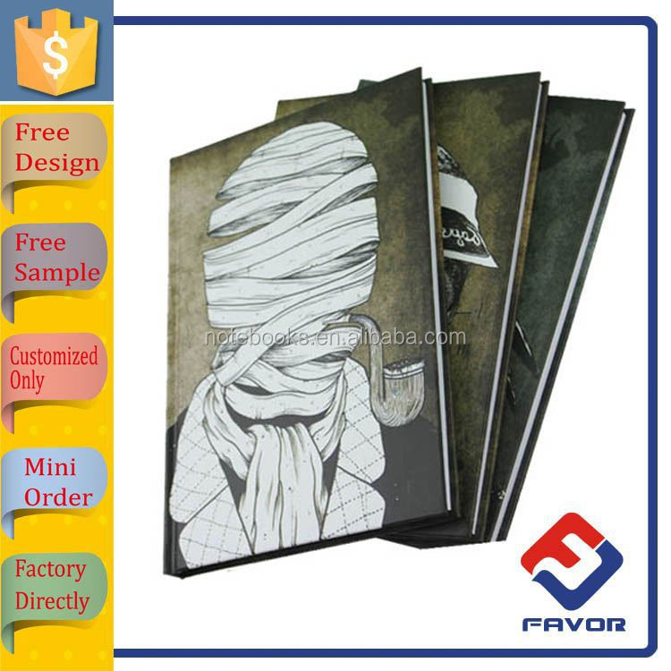 high quality glue binding soft cover exercise notebook with cute designs