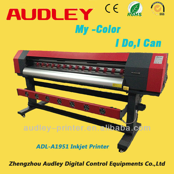 China new vision multicolor DX5 1440dpi 1.6m or 1.9m Eco solvent inkjet impresora