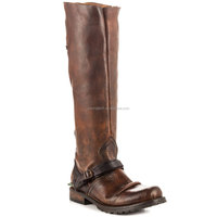 JUSITY 2015 Winter Factory Price Classic Bronze Flat Knee High Shoes Sexy Women Horse Riding Boots Wholesale