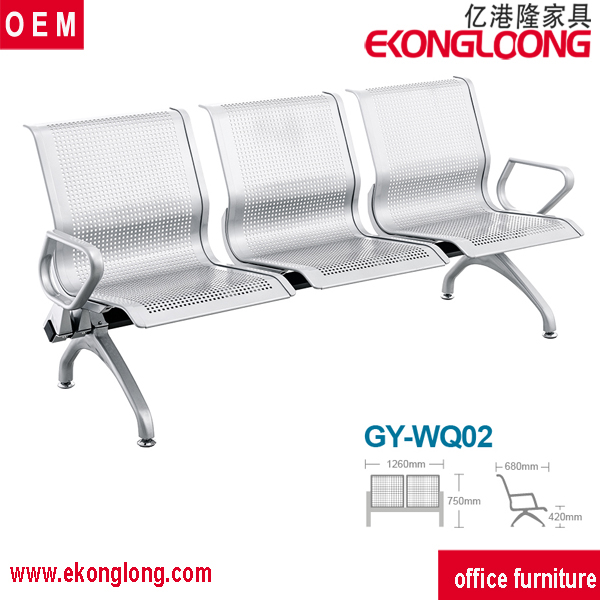 2016 stainless steel public waiting bench chair for hospital