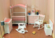 Girl furniture cartoon cheap MDF wood kids bedroom furniture