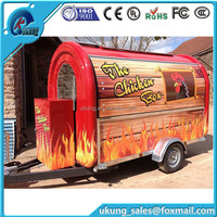 Kitchen Cooking Mobile Food Cart Trailer/ Food Vending Cart/ Outdoor Food Trailer