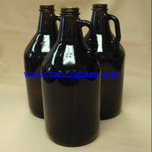 64 Ounce Glass Brewing Bottles with EZ Caps for Beer, Kombucha, Amber, Reusable