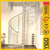 pvc handrail spiral stairs/small spiral staircase