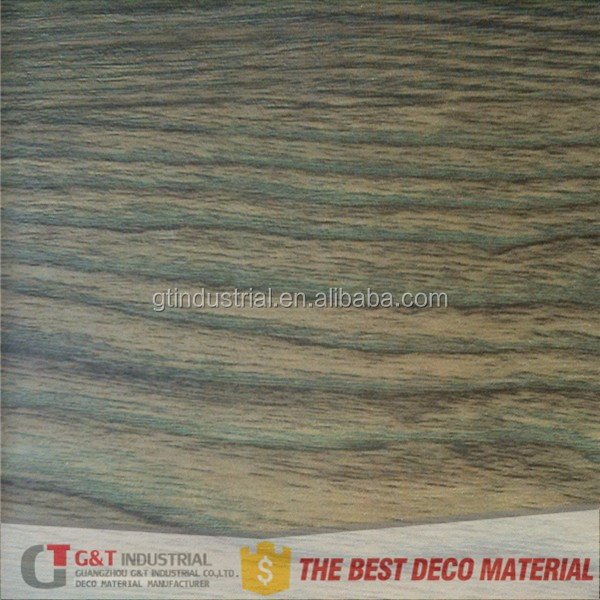 high gloss PVC Wooden Grain Decorative skin for furniture panel