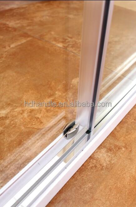Modern Design Frameless Glass Stainless Steel 3 Panel