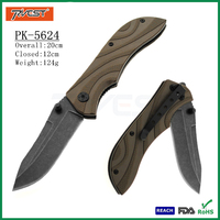 Hotsale G10 Handle Stainless Steel Folding Camping Hunting Knife