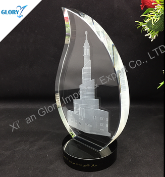 Business Blank Crystal Award Plaques for Souvenir