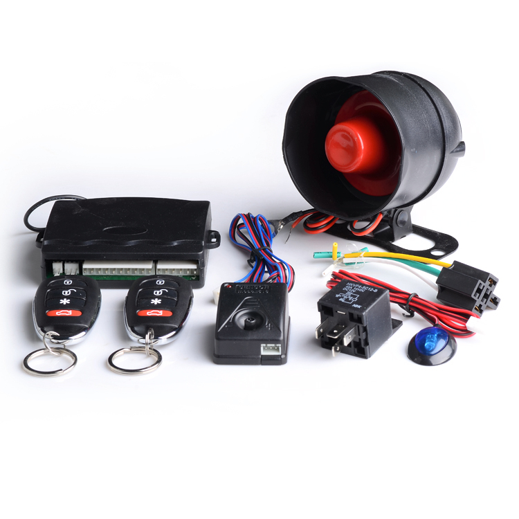 New design anti-hijacking car alarm system with central locking output and led indication