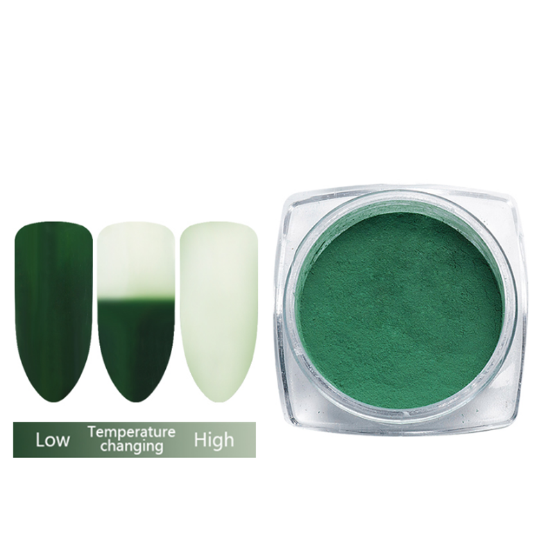 12 Colors Thermochromic Gradient Glitter Pigment Thermal <strong>Color</strong> Change Acrylic Nail Art Powder