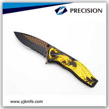 Chinese Style Dragon Handle Folding Pocket Collection Knife
