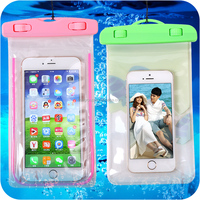 Strong sealed pvc mobile pouch Clear waterproof bag for phone