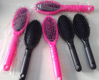 hairdressing tool, round plastic hair combs, professional detangling hair brush